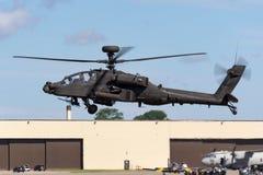 De Aanvalshelikopter ZJ 172 van AgustaWestland wah-64D Apache AH1 van de Britse Korpsen van de Legerlucht stock foto's