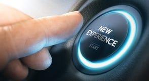De aanvang van een Nieuwe Ervaring of Zaken vector illustratie