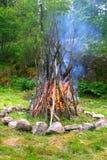 De aanvang van het Vuur stock foto