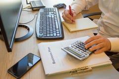 De aanvang van zaken van huis Hoe te om een kleine onderneming op te starten Stock Foto