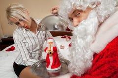 De aanwezige Kerstman `s stock fotografie