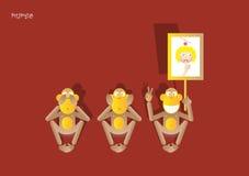 3-3de aap royalty-vrije illustratie