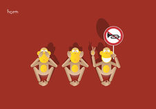 7-3de aap stock illustratie