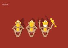 15-3de aap royalty-vrije illustratie
