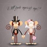 De aap stelt huwelijk voor Royalty-vrije Stock Afbeeldingen