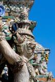 De aap van het beeldhouwwerk Stock Foto