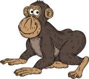 De aap van het beeldverhaal Stock Afbeeldingen