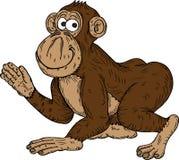 De aap van het beeldverhaal het golven Royalty-vrije Stock Afbeeldingen