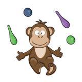 De aap van het circus Stock Foto's