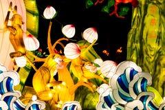 De aaplantaarns vertegenwoordigen Nieuw maanjaar van Aap Stock Afbeeldingen
