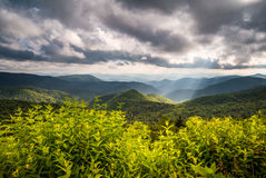 De Aard Appalachian Moun van het noordencarolina blue ridge parkway scenic stock afbeelding