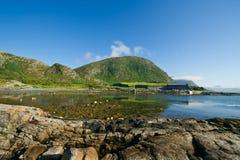 De aard en de schoonheid van Noorwegen Stock Afbeelding