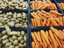 De aard van de voedsel carot aardappel Royalty-vrije Stock Foto