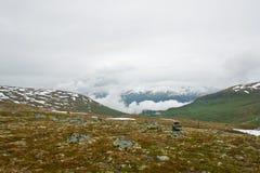 De aard van de zomer Noorwegen Stock Foto's