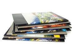 De aard van schoolnotitieboekjes op witte achtergrond Royalty-vrije Stock Fotografie