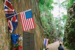 De aard van vlagamerika Stock Fotografie