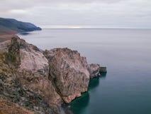 De aard van Wrangel-Eiland, landschap op Wrangel-Eiland stock foto's