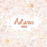De aardachtergrond van het dalingsblad De herfst verlaat patroon met letterin stock foto