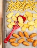 De aardappelproducten van het gemak stock fotografie