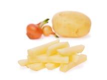 De aardappels van frieten Stock Foto's