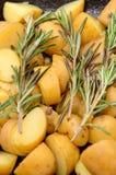 De aardappels van het braadstuk stock foto's