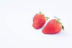 De Aardbei op witte achtergrond fruit& x27; s gezonde hartelijk, nuttig royalty-vrije stock fotografie