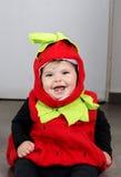 De aardbeikostuum van het babymeisje Stock Foto