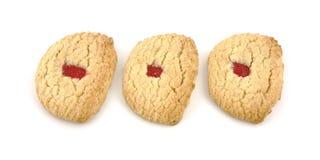De aardbeivullingen van koekjes Royalty-vrije Stock Afbeeldingen