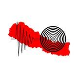 De Aardbeving Tremore van Nepal Stock Foto