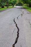 De Aardbeving van Christchurch - Barsten in Mona Vale stock fotografie