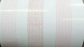 De aardbeving van de seismograafopname Gezoem uit stock videobeelden