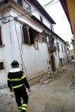 De aardbeving van Italië stock fotografie
