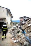 De aardbeving van Italië Stock Foto's