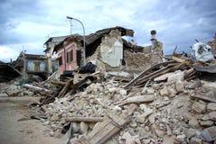 De aardbeving van Italië Stock Foto