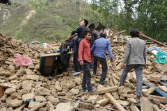 De Aardbeving van Nepal Royalty-vrije Stock Foto's