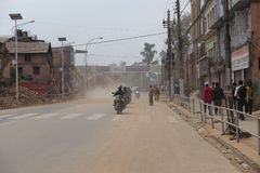 De Aardbeving van Nepal Stock Afbeeldingen