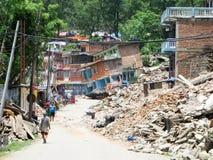 De Aardbeving van Nepal Stock Afbeelding