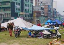 De aardbeving van Nepal in Katmandu royalty-vrije stock fotografie