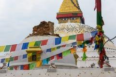 De aardbeving van Nepal in Katmandu Stock Afbeeldingen