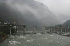 De aardbeving van Sichuan Stock Fotografie