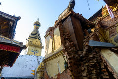 De aardbevingen van Nepal Stock Afbeelding