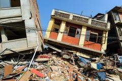 De aardbevingen van Nepal royalty-vrije stock foto's
