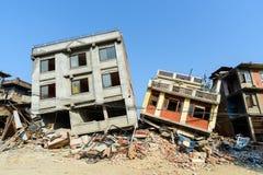De aardbevingen van Nepal Stock Foto