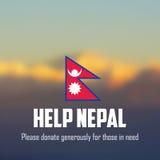 De aardbevings 2015 hulp van Nepal Stock Afbeeldingen