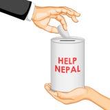 De aardbevings 2015 hulp van Nepal Stock Foto