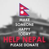De aardbevings 2015 hulp van Nepal Royalty-vrije Stock Afbeeldingen