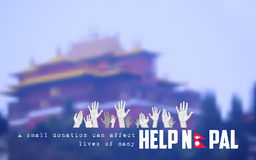 De aardbevings 2015 hulp van Nepal Stock Fotografie