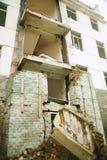 De aardbevingsplaats in Xuan Kou-lage school royalty-vrije stock foto's