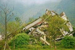 De aardbevingsplaats in Xuan Kou-lage school royalty-vrije stock afbeeldingen