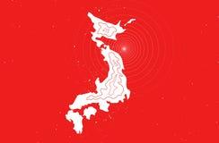 De aardbevingsramp van Japan in 2011 Stock Foto's